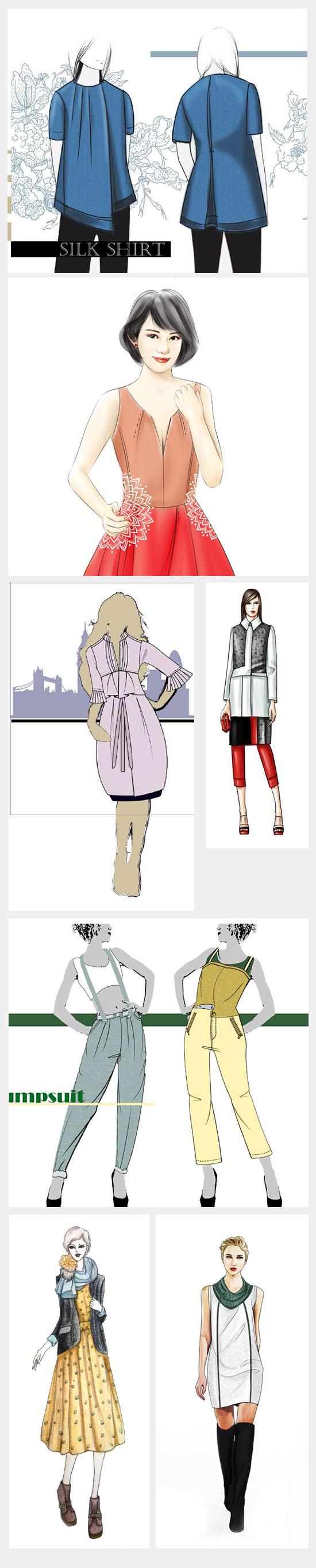 服装设计手绘-人物动态表现篇